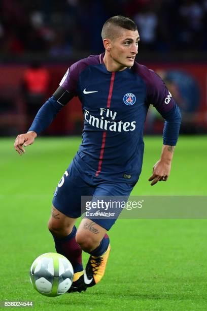 Marco Verratti of PSG during the Ligue 1 match between Paris Saint Germain and Toulouse at Parc des Princes on August 20 2017 in Paris