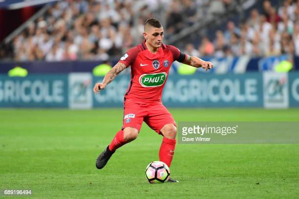 Marco Verratti of PSG during the National Cup Final match between Angers SCO and Paris Saint Germain PSG at Stade de France on May 27 2017 in Paris...