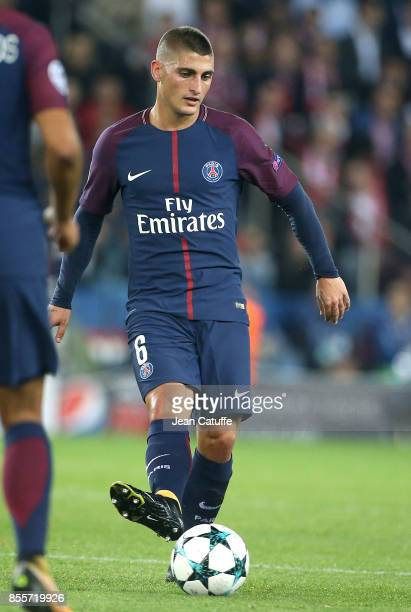 Marco Verratti of PSG during the UEFA Champions League group B match between Paris SaintGermain and Bayern Muenchen at Parc des Princes on September...
