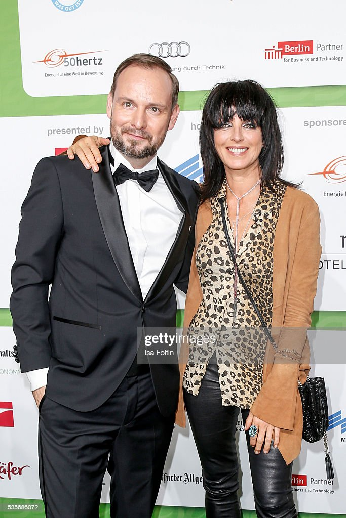 Marco Voigt and singer <a gi-track='captionPersonalityLinkClicked' href=/galleries/search?phrase=Nena+-+Singer&family=editorial&specificpeople=14019354 ng-click='$event.stopPropagation()'>Nena</a> attend the Green Tec Award at ICM Munich on May 29, 2016 in Munich, Germany.