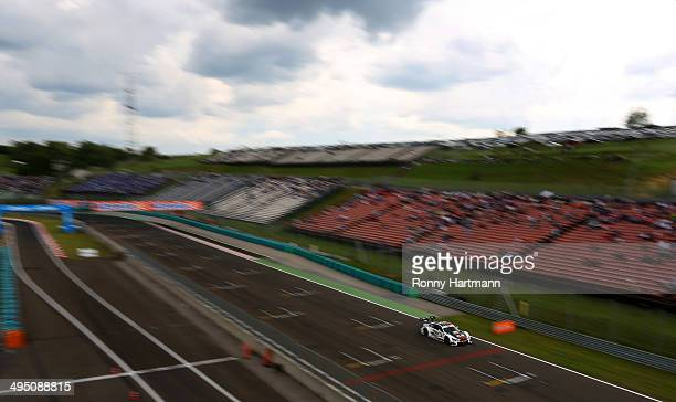 Marco Wittmann of Germany and BMW Team RMG drives during the third round of the DTM 2014 German Touring Car Championship at Hungaroring on June 01...
