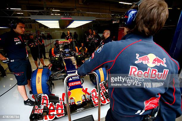 Marco Wittmann of Germany drives for Scuderia Toro Rosso during Formula One Testing at the Red Bull Ring on June 24 2015 in Spielberg Austria