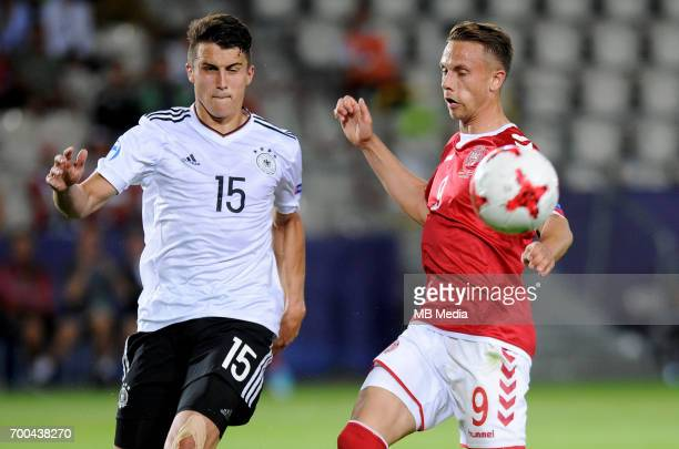 MarcOliver Kempf Marcus Ingvartsen during the UEFA European Under21 match between Germany and Denmark at Cracovia Stadium on June 21 2017 in Krakow...