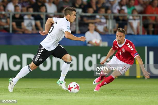 MarcOliver Kempf Marcus Ingvartsen during the UEFA European Under21 Championship Group C match between Germany and Denmark at Krakow Stadium on June...