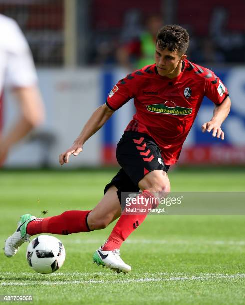 MarcOliver Kempf of Freiburg controls the ball during the Bundesliga match between SC Freiburg and FC Ingolstadt 04 at SchwarzwaldStadion on May 13...
