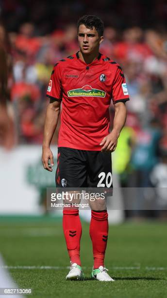 MarcOliver Kempf of Freiburg looks on during the Bundesliga match between SC Freiburg and FC Ingolstadt 04 at SchwarzwaldStadion on May 13 2017 in...