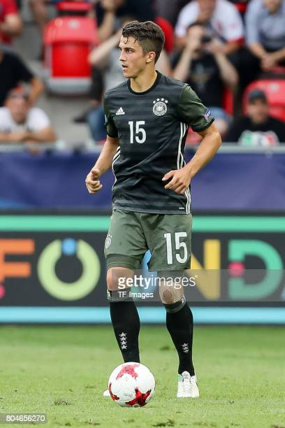 MarcOliver Kempf of Germany in action during the UEFA European Under21 Championship Semi Final match between England and Germany at Tychy Stadium on...