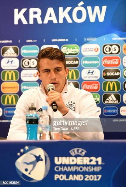 MarcOliver Kempf of Germany speaks to the media during a press conference at Krakow Stadium on June 23 2017 in Krakow Poland