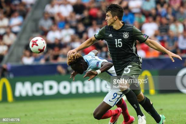 MarcOliver Kempf Tammy Abraham during the UEFA European Under21 Championship Semi Final match between England and Germany at Tychy Stadium on June 27...