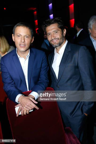 MarcOlivier Fogiel and Bixente Lizarazu attend the RTL RTL2 Fun Radio Press Conference to announce their TV Schedule for 2017/2018 at Elysee Biarritz...