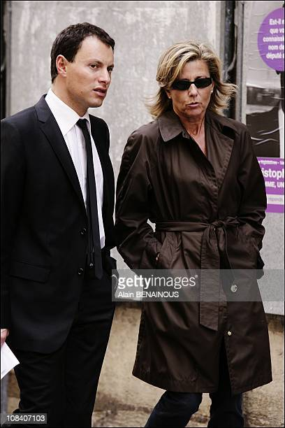 MarcOlivier Fogiel and Claire Chazal in Paris France on June 04 2007