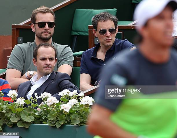 MarcOlivier Fogiel and his husband François Roelants attend Day 5 of the French Open 2014 held at RolandGarros stadium on May 29 2014 in Paris France