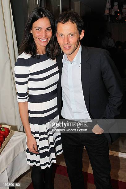 MarcOlivier Fogiel and Ines Sastre attend 'La Petite Maison De Nicole' Inauguration Cocktail at Hotel Fouquet's Barriere on January 22 2013 in Paris...