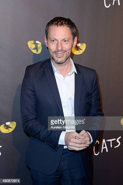 MarcOlivier Fogiel attends the 'Cats' photocall at Theatre Mogador on October 1 2015 in Paris France