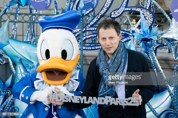 MarcOlivier Fogiel attends the Disneyland Paris 25th Anniversary at Disneyland Paris on March 25 2017 in Paris France