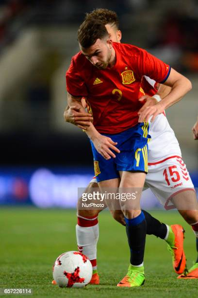 Marcondes Borja Mayoral during the friendly match of national teams U21 of Spain vs Denmark in stadium Nueva Condomina Murcia SPAIN March 23rd 2017