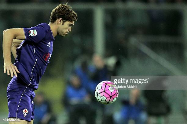 Marcos Alonso of ACF Fiorentina in action during the Serie A match between ACF Fiorentina and Atalanta BC at Stadio Artemio Franchi on October 4 2015...