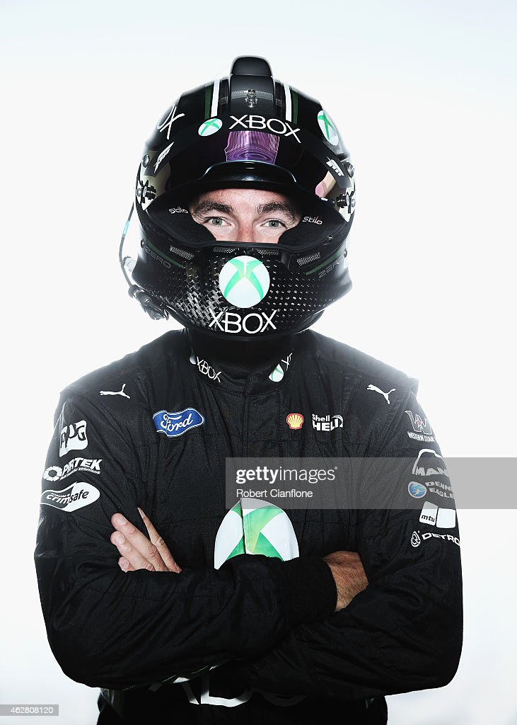 <a gi-track='captionPersonalityLinkClicked' href=/galleries/search?phrase=Marcos+Ambrose&family=editorial&specificpeople=179434 ng-click='$event.stopPropagation()'>Marcos Ambrose</a> driver of the #17 DJR Team Penske Ford poses during a V8 Supercars driver portrait session at Sydney Motorsport Park on February 6, 2015 in Sydney, Australia.