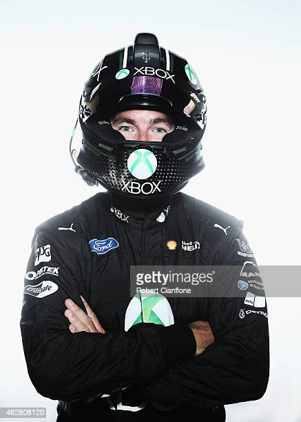 Marcos Ambrose driver of the DJR Team Penske Ford poses during a V8 Supercars driver portrait session at Sydney Motorsport Park on February 6 2015 in...