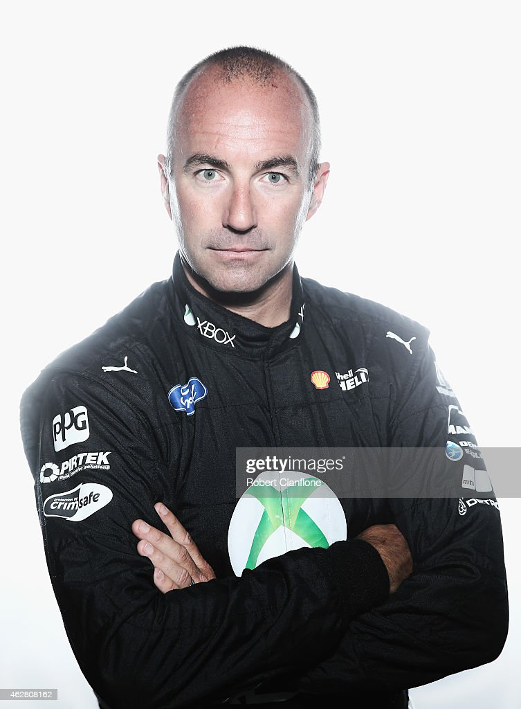 Marcos Ambrose driver of the #17 DJR Team Penske Ford poses during a V8 Supercars driver portrait session at Sydney Motorsport Park on February 6, 2015 in Sydney, Australia.