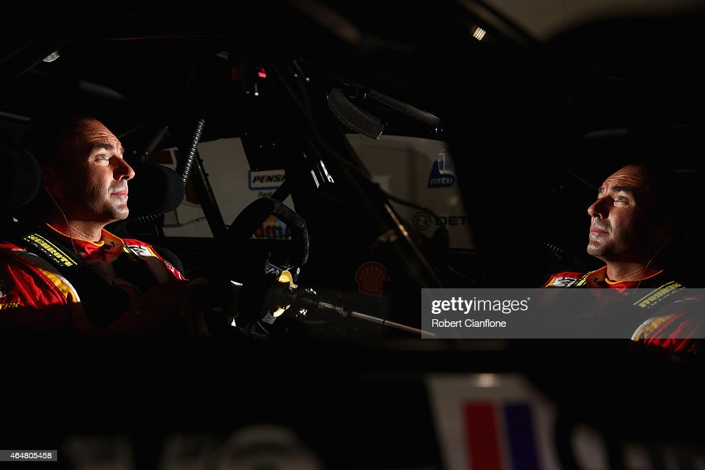Marcos Ambrose driver of the #17 DJR Team Penske Ford sits in his car prior to qualifying for race three for the V8 Supercars Clipsal 500 at Adelaide Street Circuit on March 1, 2015 in Adelaide, Australia.