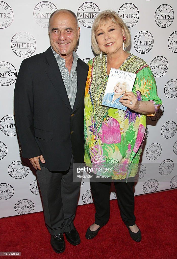 Marcos Avila and Cristina Saralegui attend Cristina Saralegui's Book Launch at Vintro Hotel on October 23, 2014 in Miami, Florida.