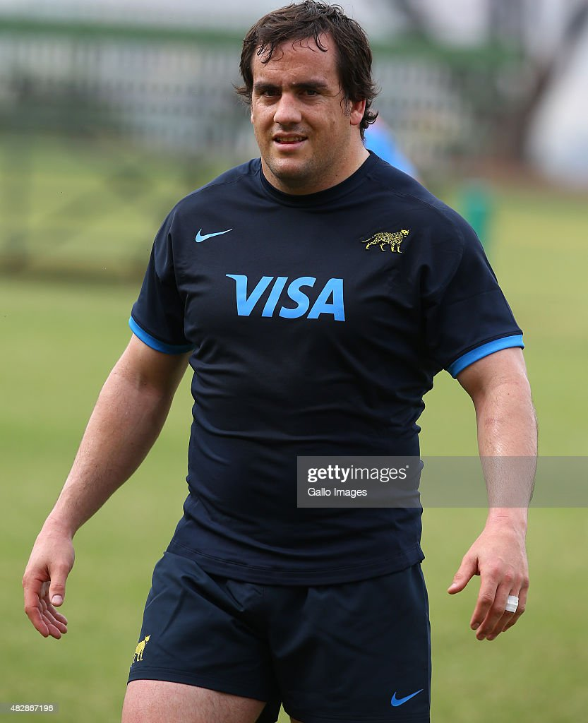 <a gi-track='captionPersonalityLinkClicked' href=/galleries/search?phrase=Marcos+Ayerza&family=editorial&specificpeople=3034035 ng-click='$event.stopPropagation()'>Marcos Ayerza</a> during the Argentina training session at Glenwood High School on August 03, 2015 in Durban, South Africa.