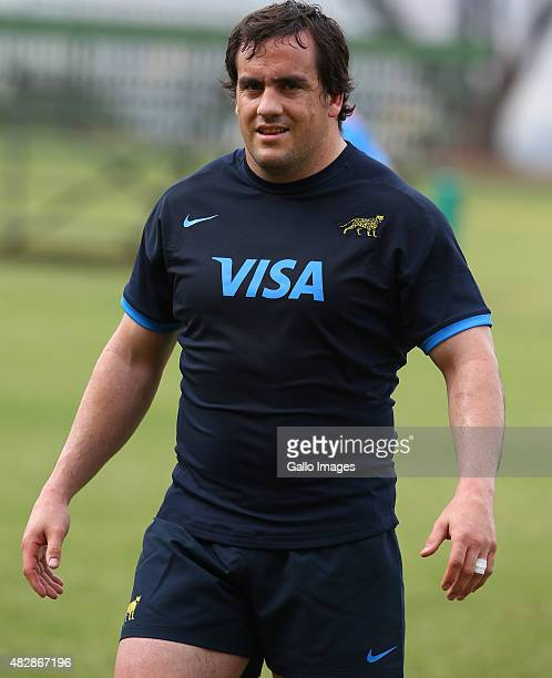 Marcos Ayerza during the Argentina training session at Glenwood High School on August 03 2015 in Durban South Africa