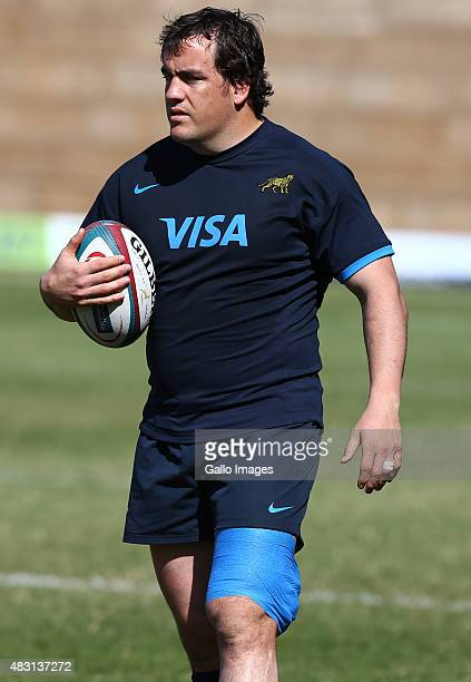 Marcos Ayerza during the Argentina training session at Glenwood High School on August 06 2015 in Durban South Africa