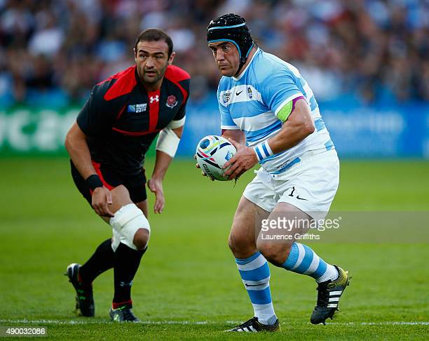 Marcos Ayerza of Argentina in action during the 2015 Rugby World Cup Pool C match between Argentina and Georgia at Kingsholm Stadium on September 25...
