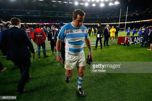 Marcos Ayerza of Argentina walks of dejected after losing the 2015 Rugby World Cup Semi Final match between Argentina and Australia at Twickenham...