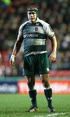 Marcos Ayerza of Leicester looks on during the European Rugby Champions Cup match between Leicester Tigers and Munster at Welford Road on December 20...