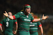 Marcos Ayerza of Leicester Tigers during the European Rugby Champions Cup Pool 3 match between Leicester Tigers and RC Toulon at Welford Road on...