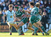 Marcos Ayerza of Leicester Tigers in action during the Aviva Premiership match between Leicester Tigers and Northampton Saints at Welford Road on...