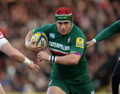 Marcos Ayerza of Leicester Tigers in action during the Aviva Premiership match between Leicester Tigers and Sale Sharks at Welford Road on December...