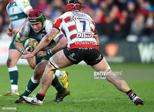 Marcos Ayerza of Leicester Tigers in action during the Aviva Premiership match between Gloucester Rugby and Leicester Tigers at Kingsholm Stadium on...