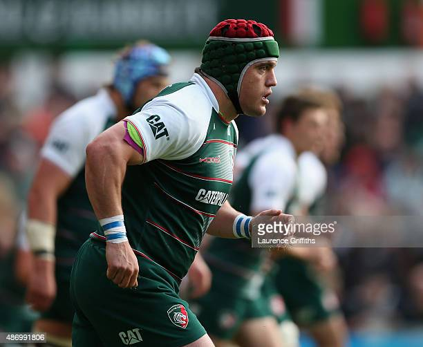 Marcos Ayerza of Leicester Tigers in action during the Testimonial Challenge match between Leicester Tigers and Argentina at Welford Road on...
