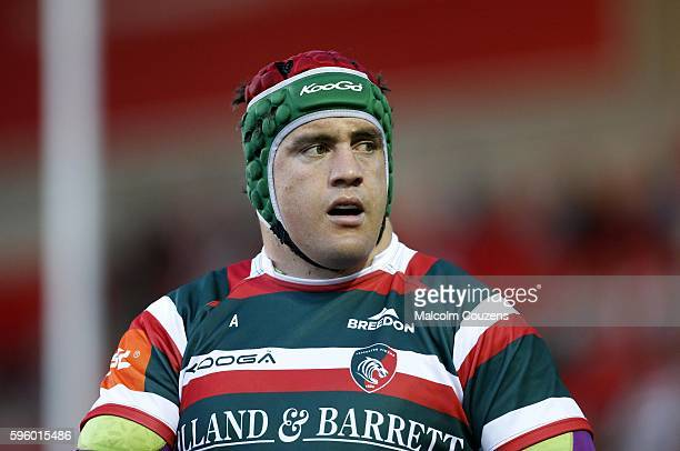 Marcos Ayerza of Leicester Tigers looks on during the preseason friendly between Leicester Tigers and Ospreys at Welford Road on August 26 in...