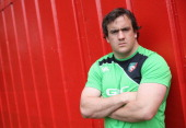 Marcos Ayerza the Leicester Tigers prop poses during the Leicester Tigers media session held at the Oadby Oval on May 13 2014 in Leicester England