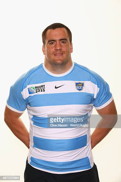 Marcos Ayerzaof Argentina poses for a portrait during the Argentina Rugby World Cup 2015 squad photo call at the Marriott Hotel on September 1 2015...