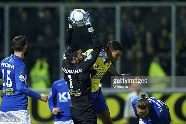 Marcos Gullon of Roda JC Jordy Buijs of Roda JC goalkeeper Benjamin van Leer of Roda JC Marvin Peersman of SC Cambuur Ugur Inceman of Roda JC during...