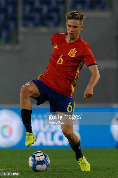 Marcos Llorente during the international friendly match between Italy U21 and Spain U21 at Olimpico Stadium on March 27 2017 in Rome Italy