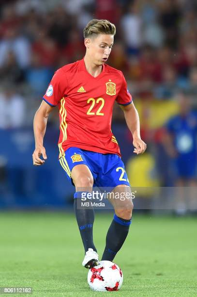 Marcos Llorente during the UEFA European Under21 final match between Germany and Spain on June 30 2017 in Krakow Poland