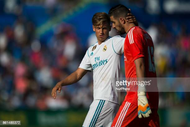 Marcos Llorente Kiko Casilla during the match between Getafe CF vs Real Madrid week 8 of La Liga 2017/18 in Coliseum Alfonso Perez Getafe Madrid 14th...