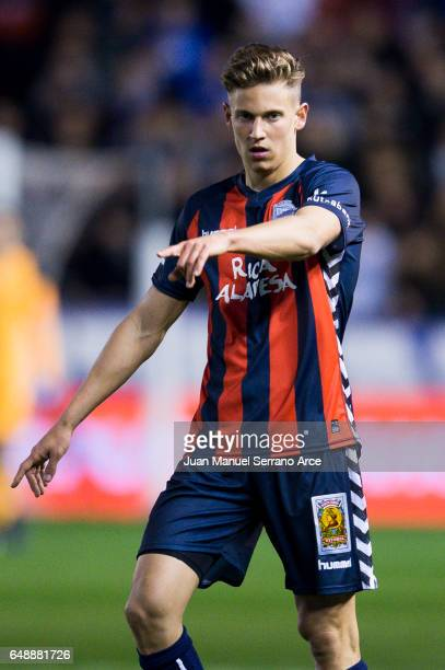 Marcos Llorente of Deportivo Alaves reacts during the La Liga match between Deportivo Alaves and Sevilla FC at Mendizorroza stadium on March 6 2017...