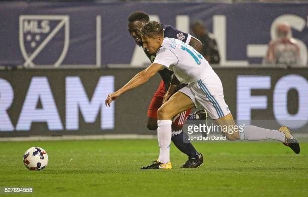 Marcos Llorente of Real Madrid and Jozy Altidore of the MLS AllStars chase down the ball during the 2017 MLS All Star Game at Soldier Field on August...