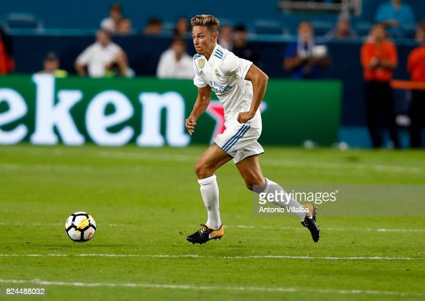 Marcos LLorente of Real Madrid during the international champions cup match between Real Madrid CF and FC Barcelona at Hard Rock Stadium on July 29...