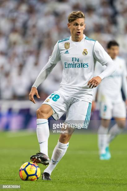 Marcos Llorente of Real Madrid during the La Liga Santander match between Real Madrid CF and Sevilla FC on December 09 2017 at the Santiago Bernabeu...