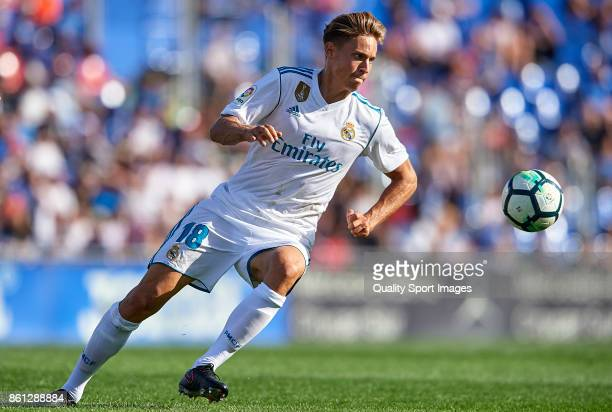 Marcos Llorente of Real Madrid in action during the La Liga match between Getafe and Real Madrid at Estadio Coliseum Alfonso Perez on October 14 2017...