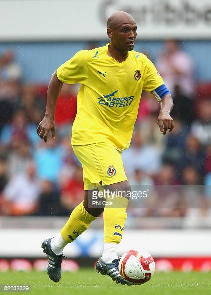 Marcos Senna of Villarreal in action during The Bobby Moore Cup pre season friendly match between West Ham United and Villarreal at Upton Park on...